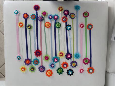 fiore di feltro segnalibro a fiore di feltro fatto a mano feste