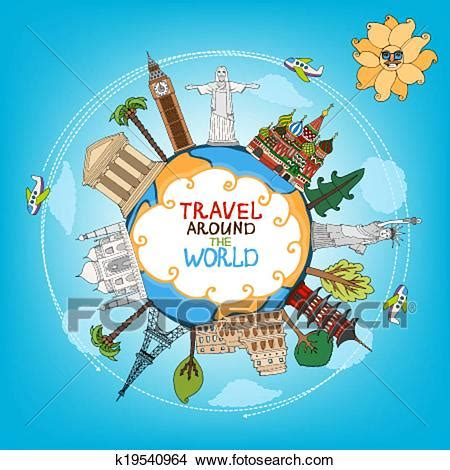 clipart viaggi clipart of travel landmarks monuments around world