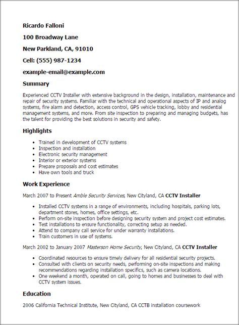ip design engineer job description professional cctv installer templates to showcase your