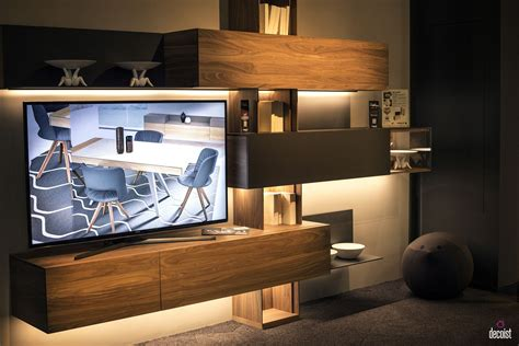 floating cabinets living room tastefully space savvy 25 living room tv units that wow