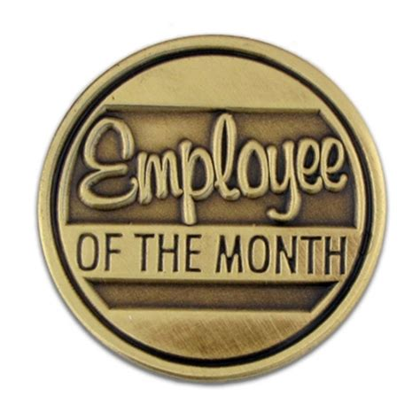 Letter Holders Desk Employee Of The Month Lapel Pin