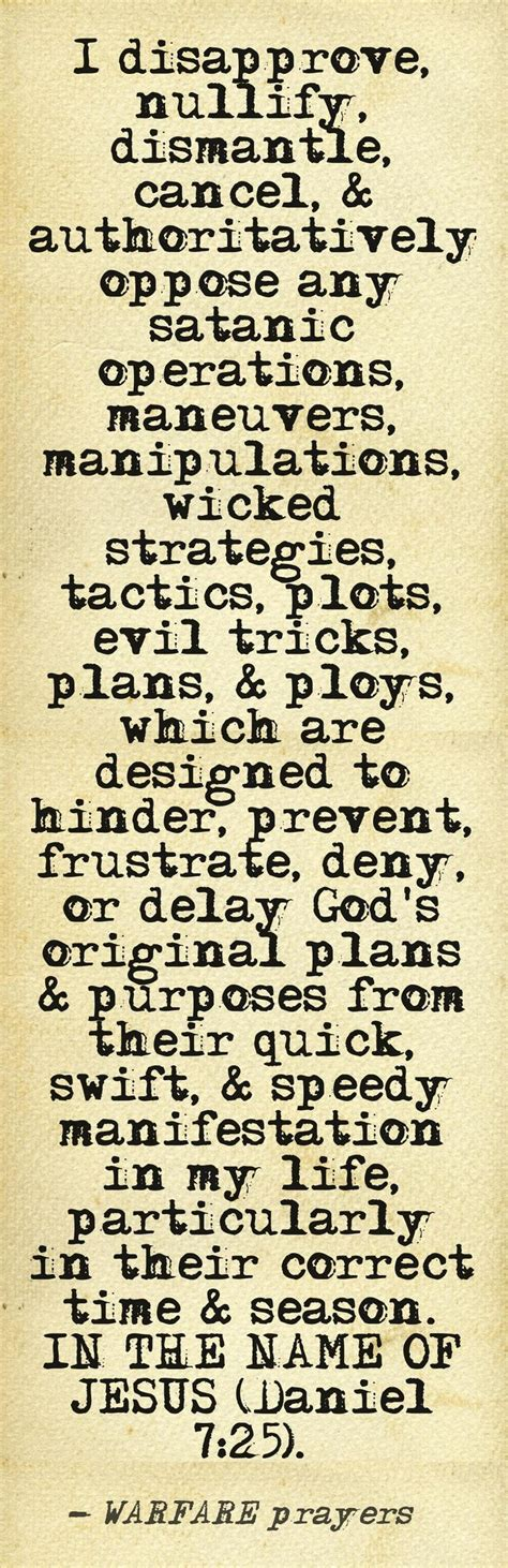 warfare prayer for the church