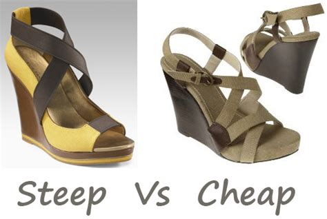 Steep Vs Cheap Canvas Wedge Sandals by My Fashion
