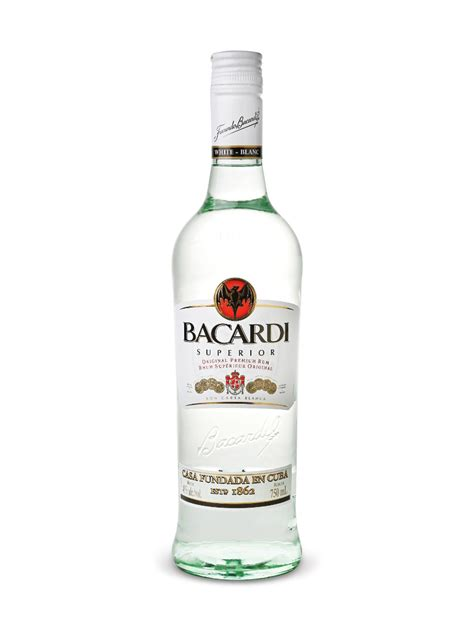Code Bacardi Bottle White bacardi superior rum 750 ml bottle bacardi canada inc