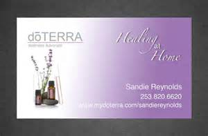 doterra business card template printed doterra business card design color by