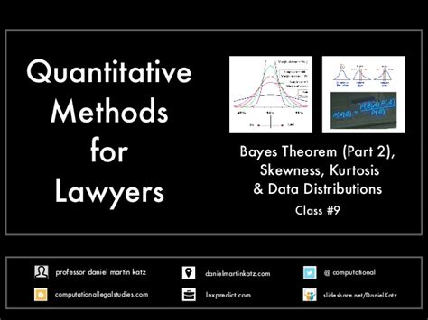 as data elements in quantitative and computational methods quantitative methods for lawyers class 9 bayes