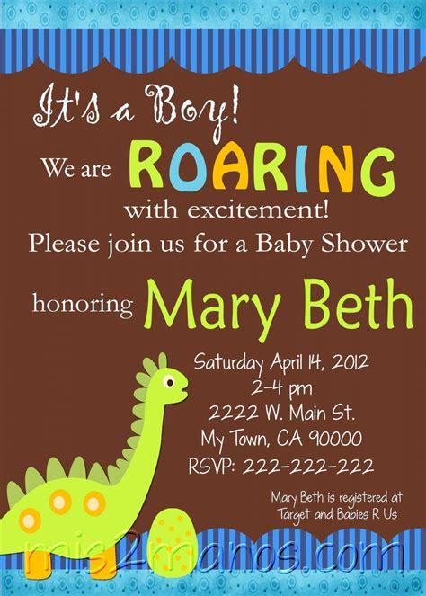 Dino Baby Shower Invitations Printable One Hour Printable Photo Dino Print At Home Diy Dinosaur Baby Shower Invitation Template