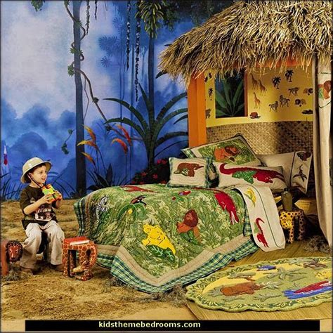 rainforest bedroom safari adventure theme bedrooms kids rooms jungle theme