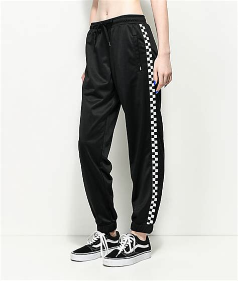 pants checkered jeans checkered pants black and white vans black white checker track pants zumiez
