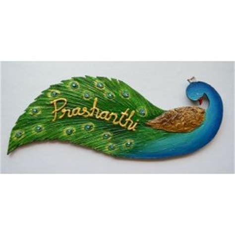nameplate peacock designer name plates by mebelkart