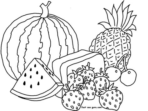 whole watermelon coloring page half and whole watermelon coloring template coloring pages