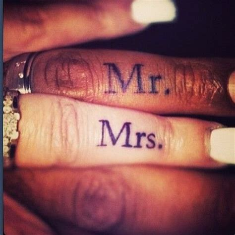 love finger tattoo matching married couples finger tattoos mr