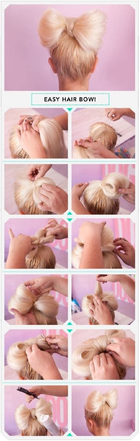 diy hairstyles bow 13 interesting tutorials for everyday hairstyles pretty
