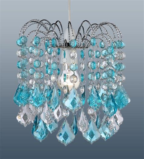 Turquoise Chandelier Crystals Turquoise Blue Acrylic Pear Drops Chandelier