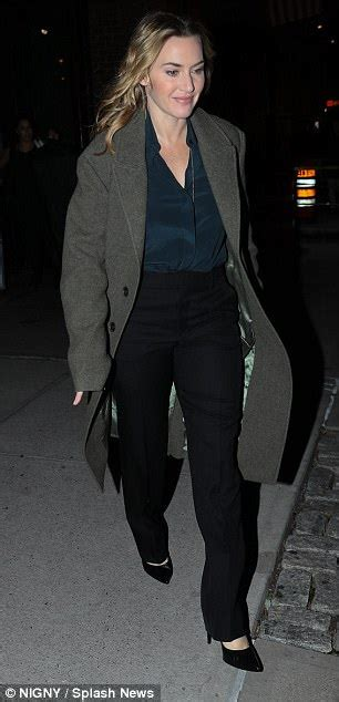 Kemeja Cowok New M City Black Grey kate winslet looks radiant as she steps out in nyc daily mail
