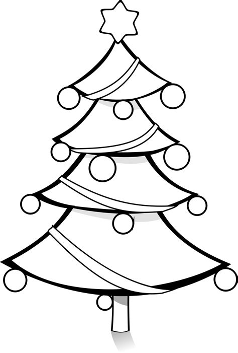 christmas tree clipart coloring page clipart christmas tree coloring page