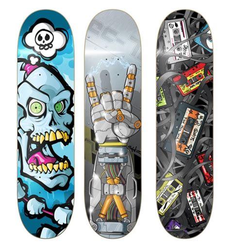 Skateboards Decks by 100 Truly Stunning Skateboard Designs Designrfix