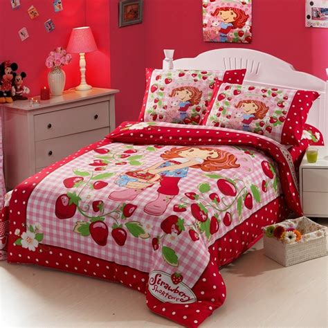 Strawberry Shortcake Toddler Bedding Set Strawberry Doll Duvet Cover Bedding Sets Bedding Kid Duvet Covers
