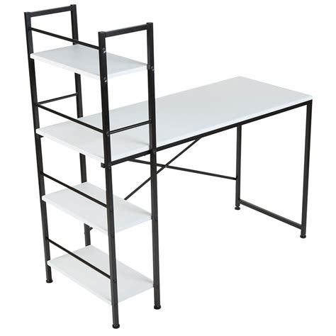 Modern Desks Evelyn White Desk Shelf Eurway White Desk With Shelves