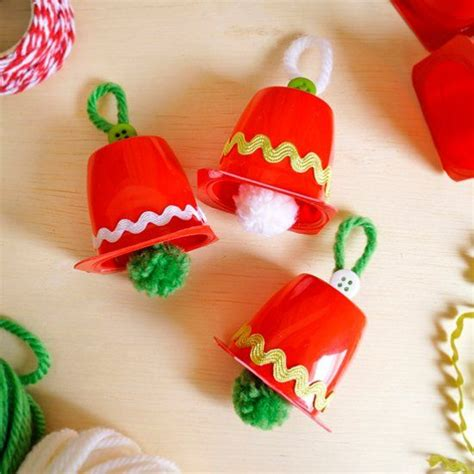 diy a craft christmas bells with yoghurt pots christmas