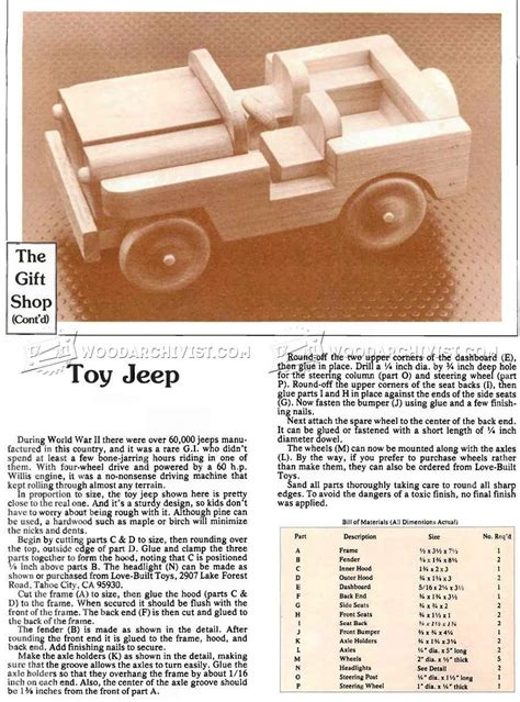 wood toy jeep plans wow blog