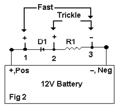 current limiting resistor for battery charger trickle charger information