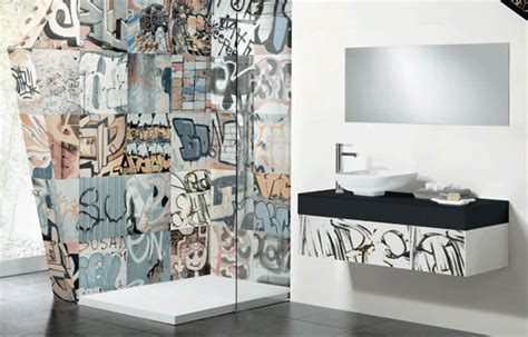 graffiti bathroom tiles what banksy inspired tile modern in denver colorado s