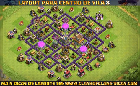 layout de cv 8 push layouts de centro de vila 8 para clash of clans clash of