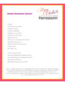 Wedding Photography Contract Template by Wedding Photography Contract Template Free