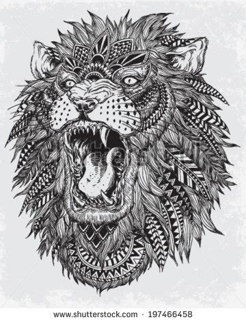 lion pattern tumblr lion drawing shared by stephanie thai on we heart it