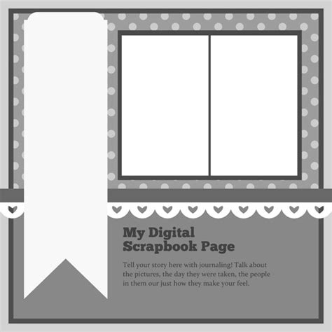 free scrapbook template free digital scrapbooking gallery april s scraplifter s