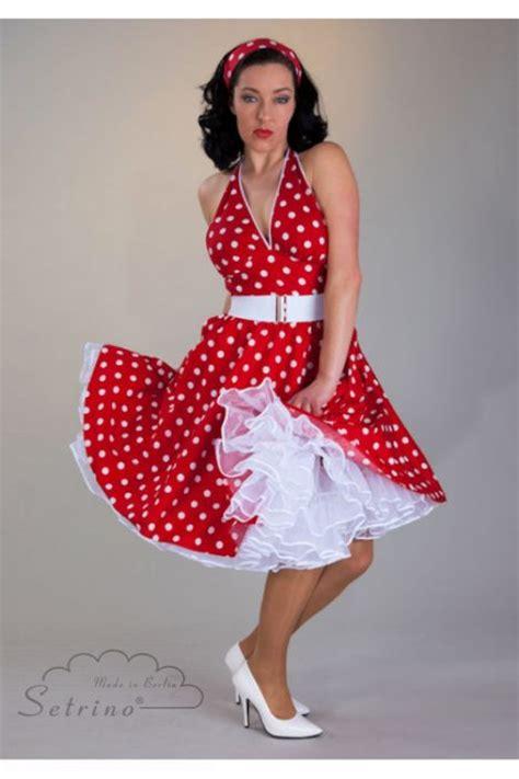 swing style kleidung punktekleid petticoatkleid vintage retro