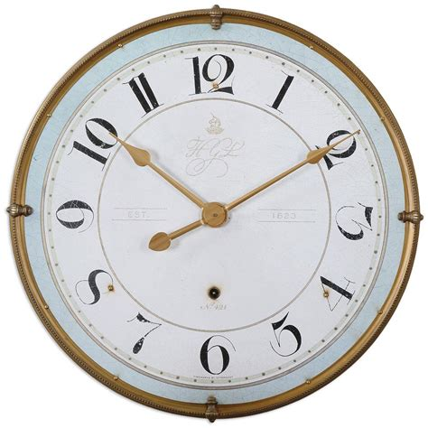 country clock alouette country antique frame gold wall clock
