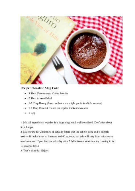recipe healthy chocolate mug cake