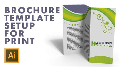 Brochure Template Setup For Print In Adobe Illustrator Youtube Adobe Illustrator Flyer Template
