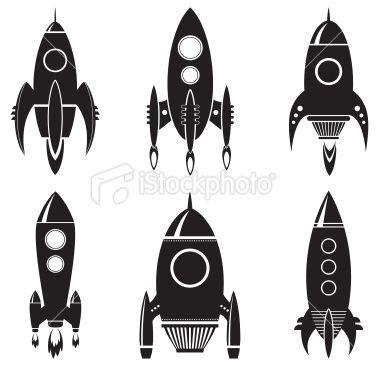 wandgestaltung ideen 4809 vector set of space rockets ideas