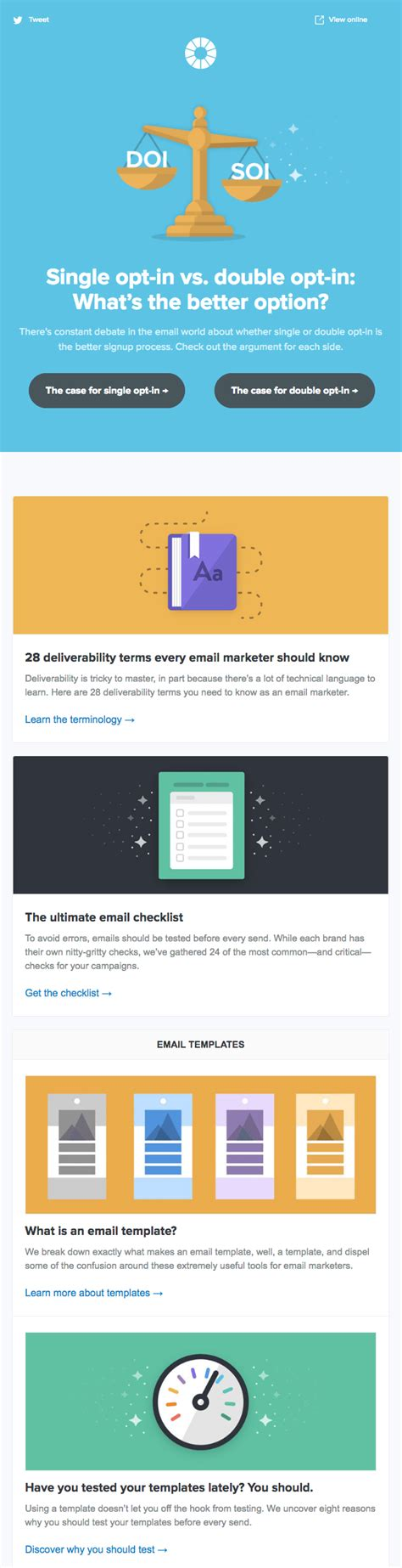 email newsletter examples love inboxes