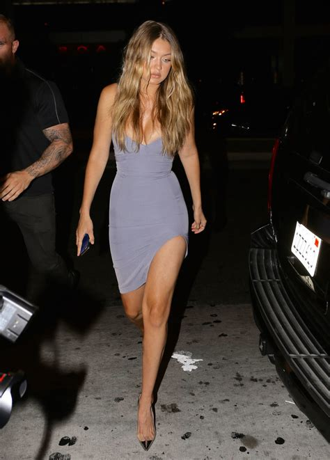 gigi hadid showed    party   skintight blue gray house  cb number  dress code