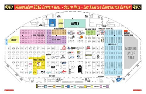 los angeles convention center floor plan wondercon 2016 exhibit hall floor plan by comic con