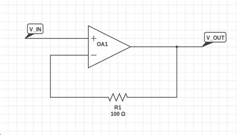 op what is the purpose of a resistor in the feedback path of a unity gain buffer