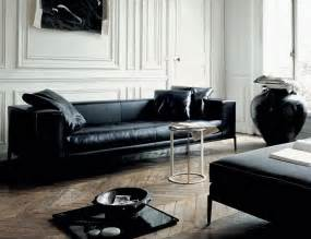 Living Rooms With Black Sofas Modern Black Leather Furniture Sofa Ideas Interior Design Sofaideas Net