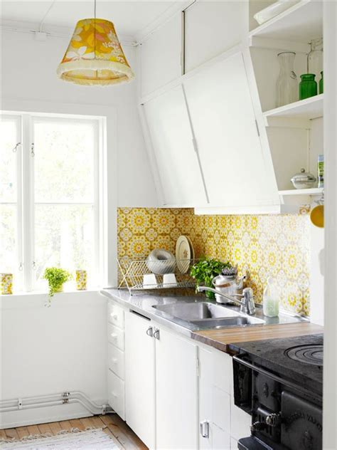 flower wallpaper kitchen small scandinavian kitchen with flower wallpaper