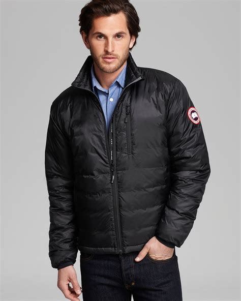 men s lyst canada goose lodge down jacket in black for men