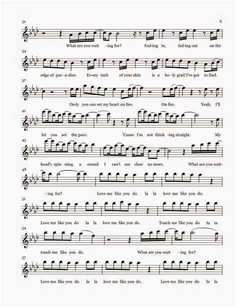 Flat Flow Puth flute sheet me like you do part 2 sheet