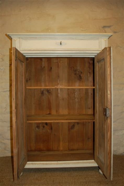 antique pine storage cupboard tallboy small armoire