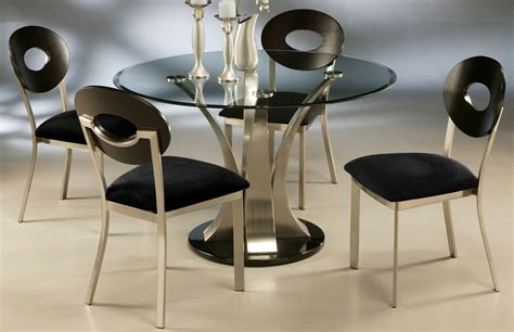 Glass Top Pedestal Dining Room Tables Table With Black Pedestal And Glass Top Dining Room