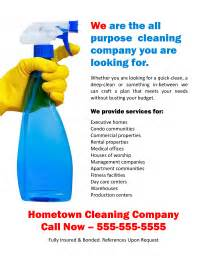 free general purpose cleaning business flyer