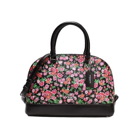 Coach Posey Cluster Floral Mini Satchel F57621 732 best colorful bags images on