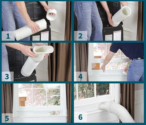 venting portable air conditioner through how to vent a portable air conditioner sylvane