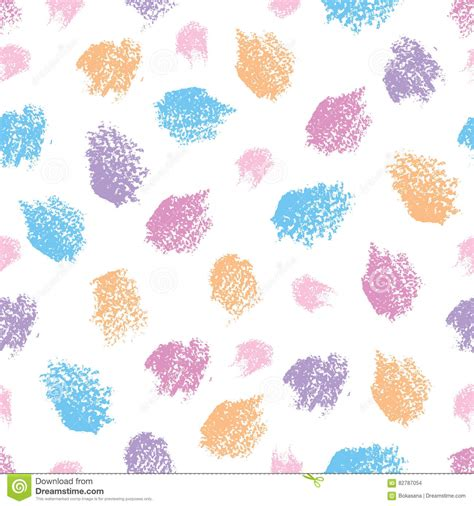 background design using oil pastel vector seamless pattern with oil pastel round design